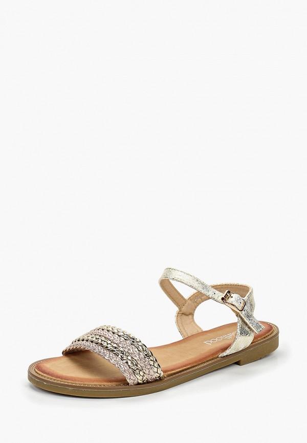 Фото 2 - женские сандали Girlhood золотого цвета