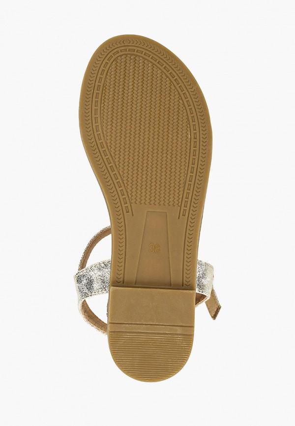 Фото 5 - женские сандали Girlhood золотого цвета