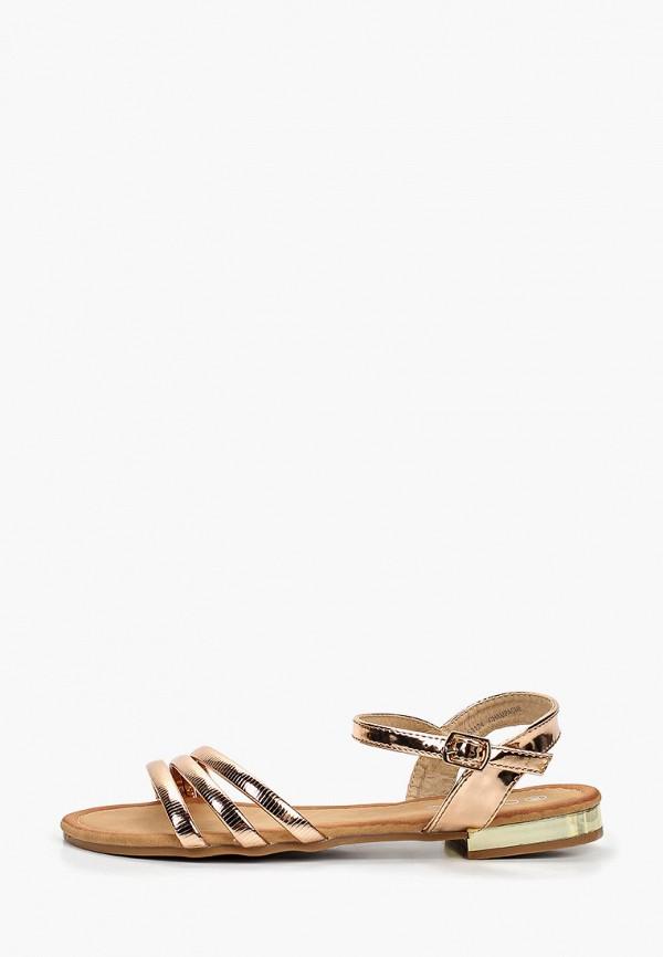 Фото - женские сандали Girlhood золотого цвета