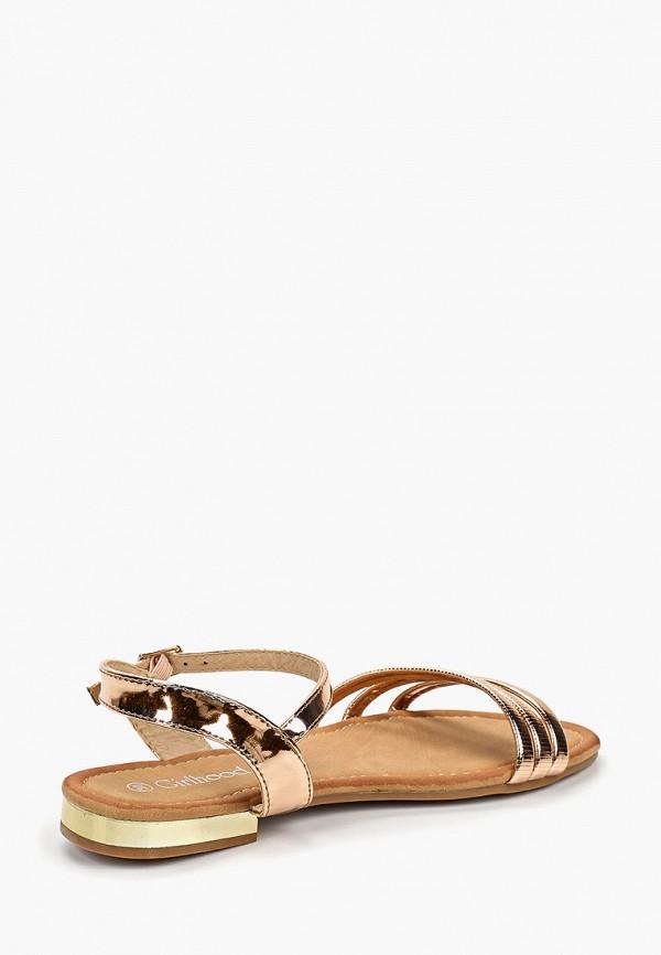 Фото 3 - женские сандали Girlhood золотого цвета