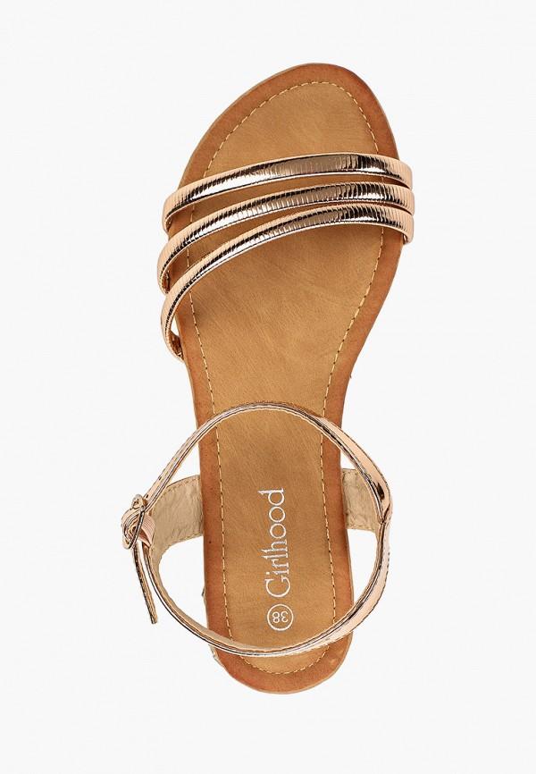 Фото 4 - женские сандали Girlhood золотого цвета