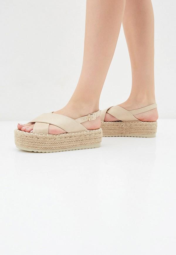 Фото 6 - женские сандали Girlhood бежевого цвета