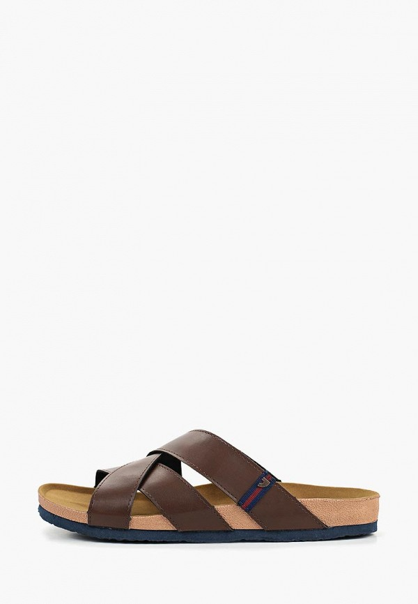 мужское сабо gioseppo, коричневое