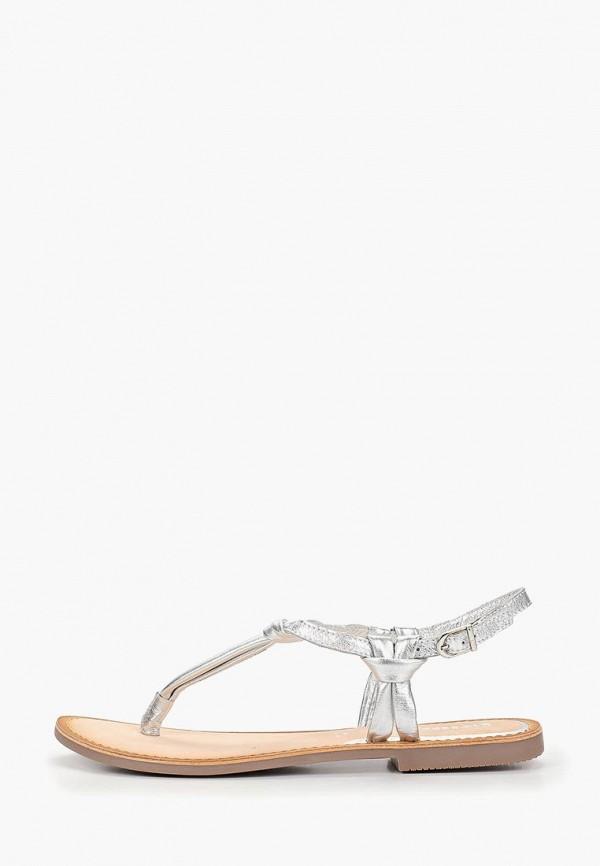 женские сандалии gioseppo, серебряные
