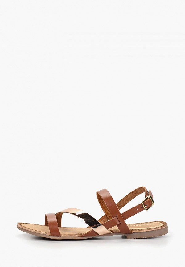 женские сандалии gioseppo, коричневые