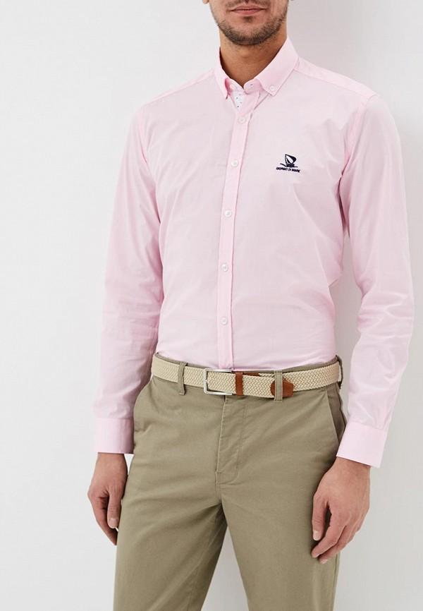 мужская рубашка с длинным рукавом giorgio di mare, розовая
