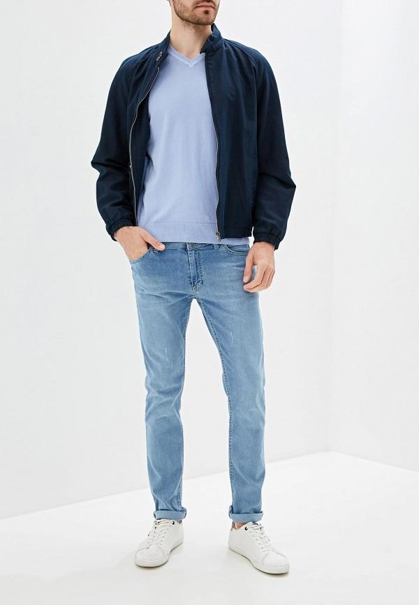 Фото 2 - мужской пуловер Giorgio Di Mare голубого цвета