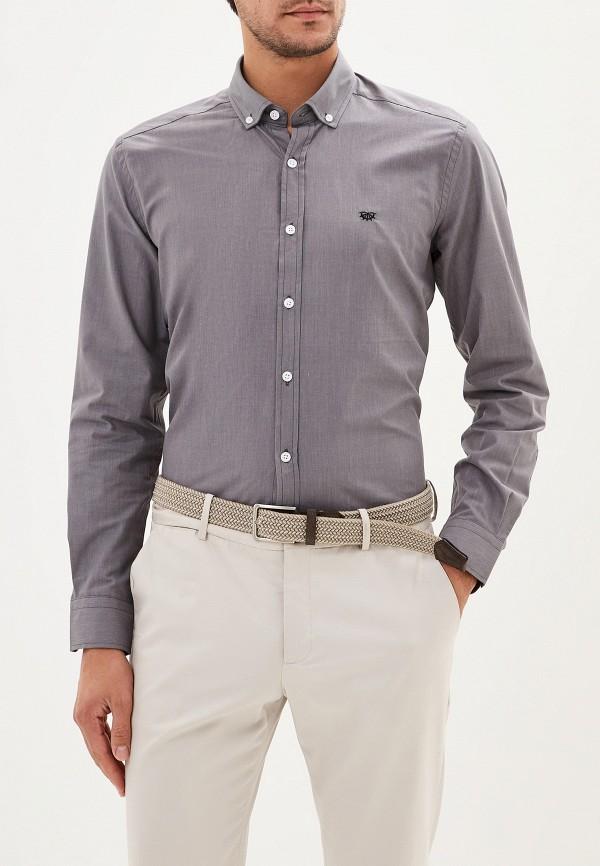 мужская рубашка с длинным рукавом giorgio di mare, серая