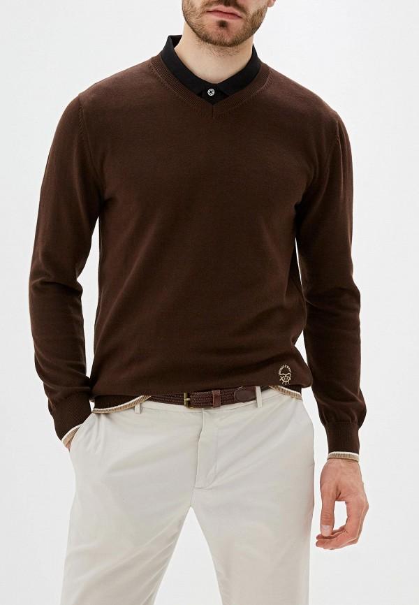 мужской пуловер giorgio di mare, коричневый