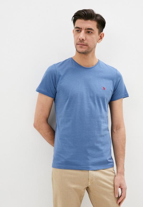 мужская футболка с коротким рукавом giorgio di mare, голубая