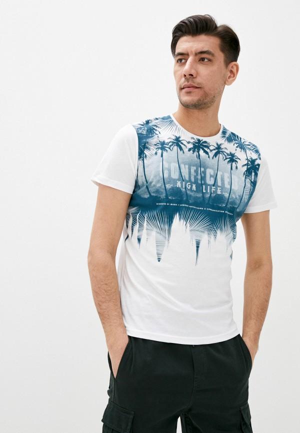 мужская футболка с коротким рукавом giorgio di mare, белая