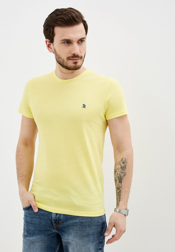 мужская футболка с коротким рукавом giorgio di mare, желтая