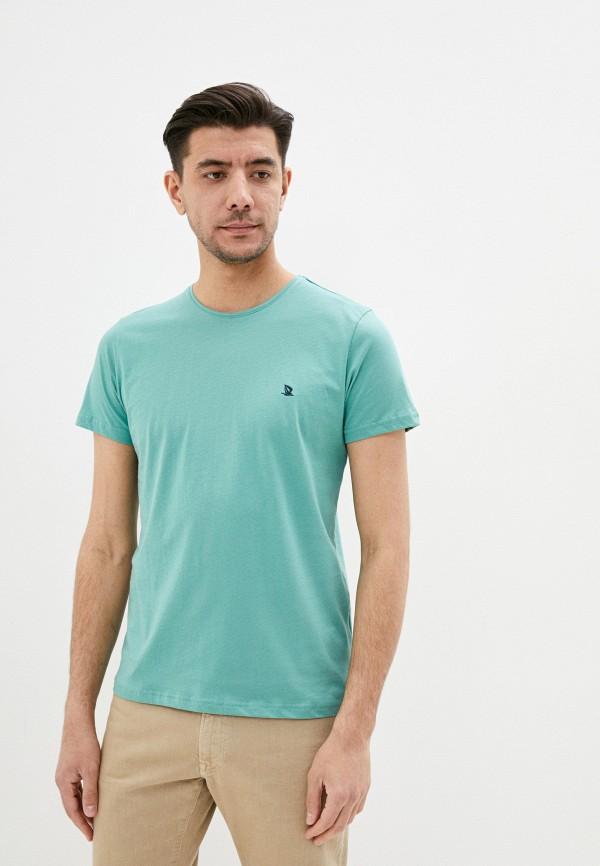 мужская футболка с коротким рукавом giorgio di mare, бирюзовая