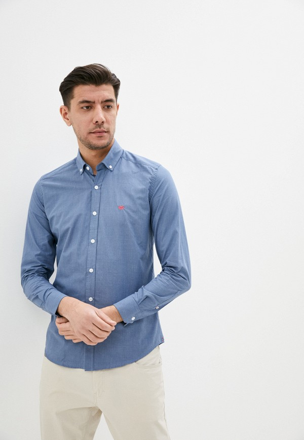 мужская рубашка с длинным рукавом giorgio di mare, синяя