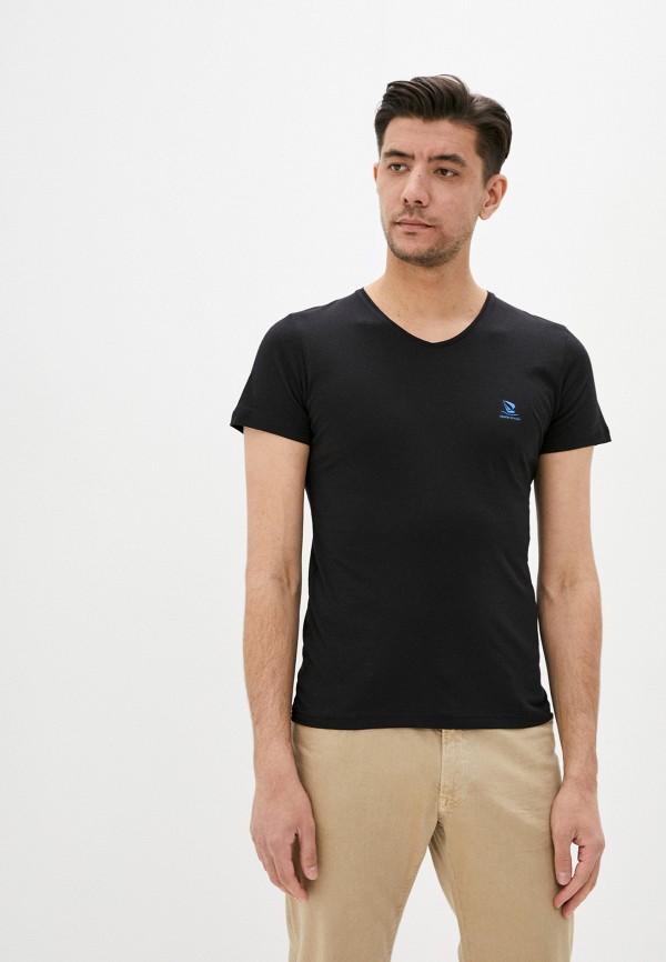 мужская футболка с коротким рукавом giorgio di mare, черная