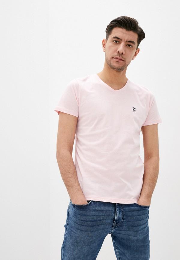 мужская футболка с коротким рукавом giorgio di mare, розовая