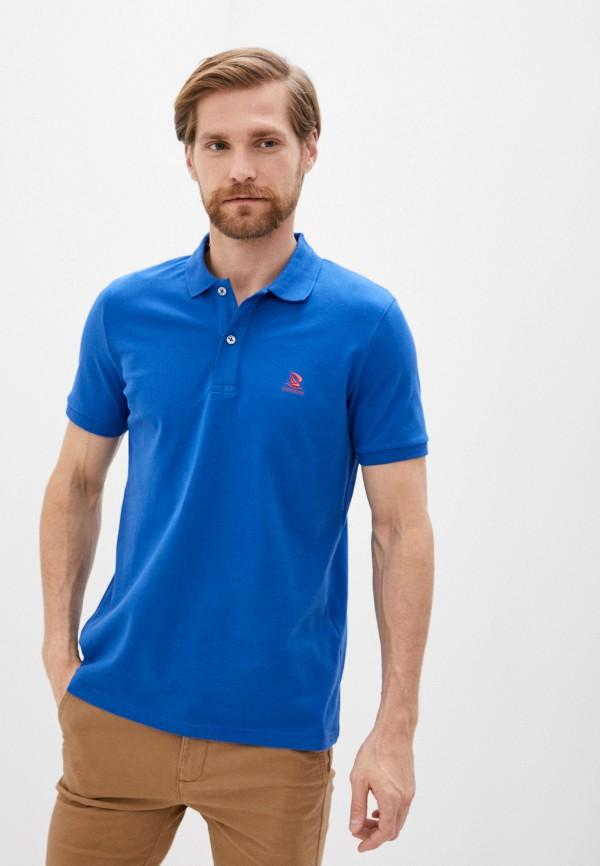 мужское поло giorgio di mare, синее