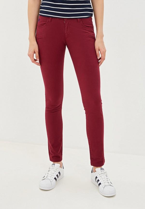 женские повседневные брюки giorgio di mare, бордовые