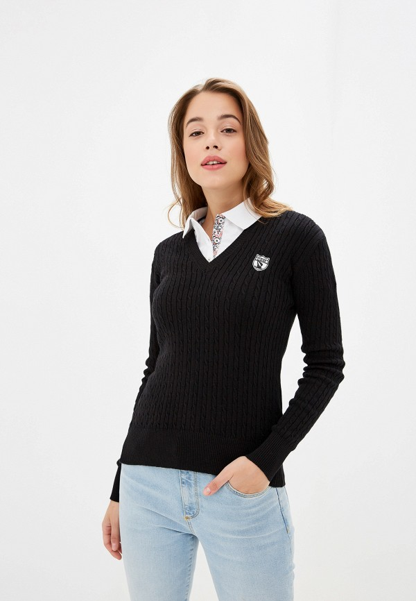 женский пуловер giorgio di mare, черный