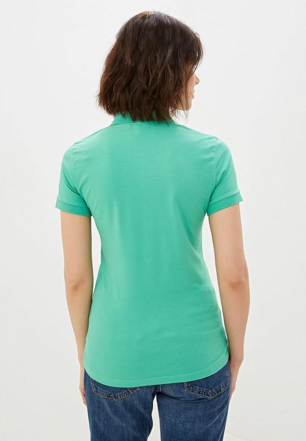 Фото 3 - женское поло Giorgio Di Mare бирюзового цвета