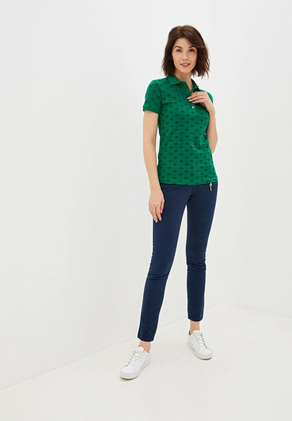Фото 2 - женское поло Giorgio Di Mare зеленого цвета