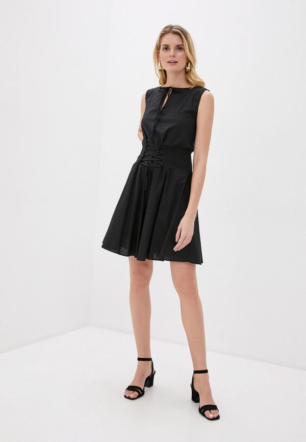 женское повседневные платье giorgio di mare, черное