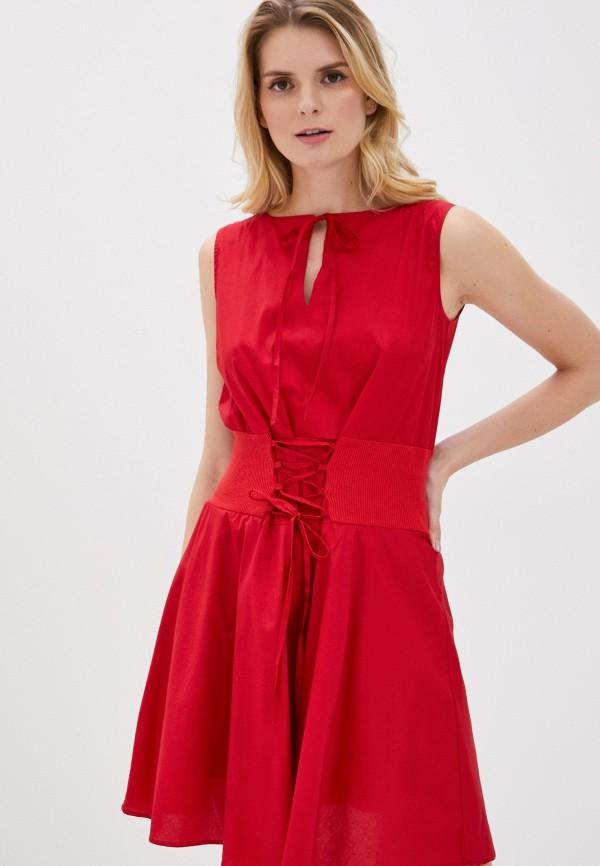 женское повседневные платье giorgio di mare, красное