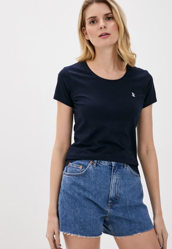 женская футболка giorgio di mare, синяя