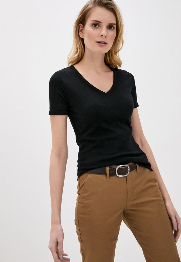 женская футболка giorgio di mare, черная