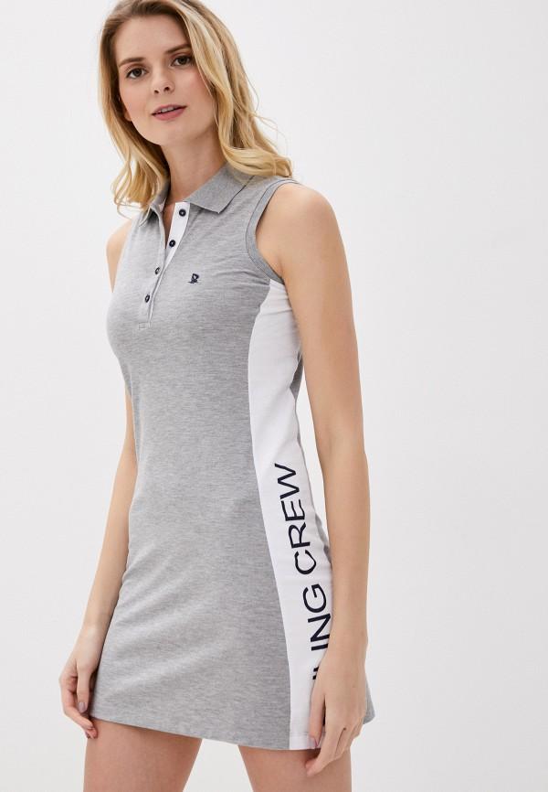 женское платье giorgio di mare, серое