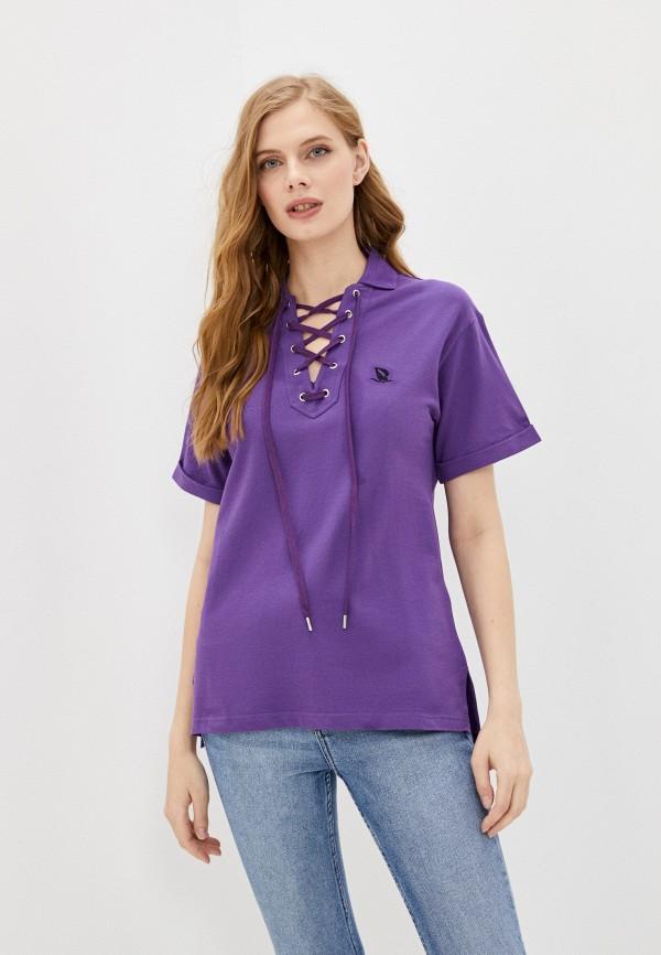 женское поло giorgio di mare, фиолетовое
