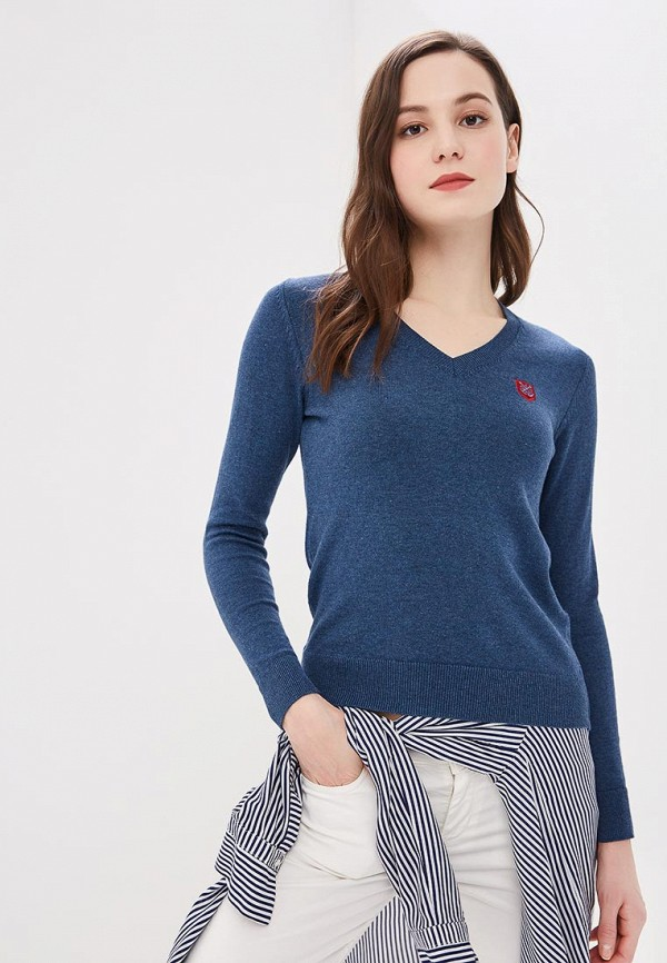 женский пуловер giorgio di mare, синий