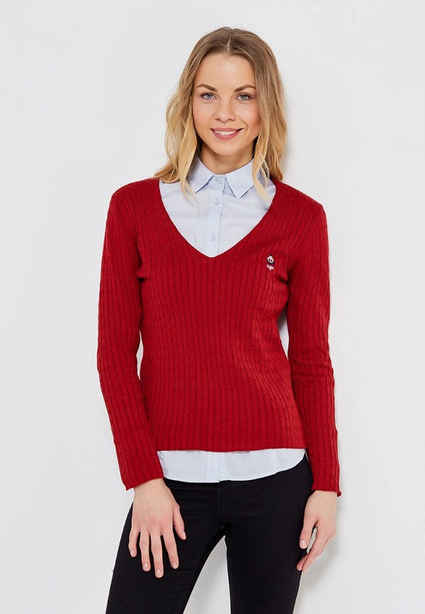 женский пуловер giorgio di mare, бордовый