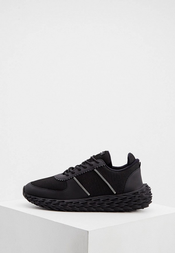 мужские низкие кроссовки giuseppe zanotti, черные