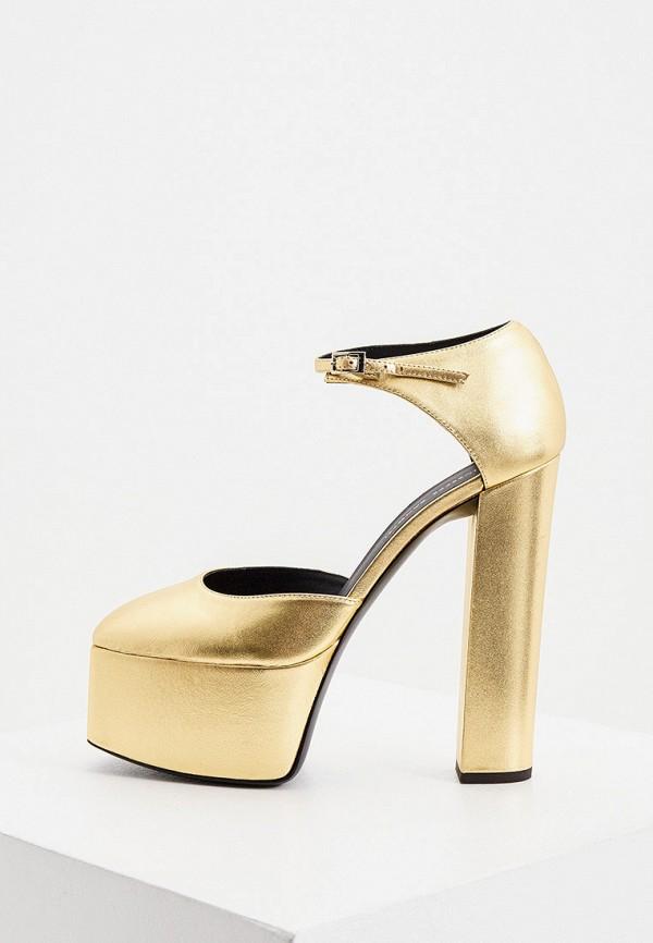 женские туфли giuseppe zanotti, золотые