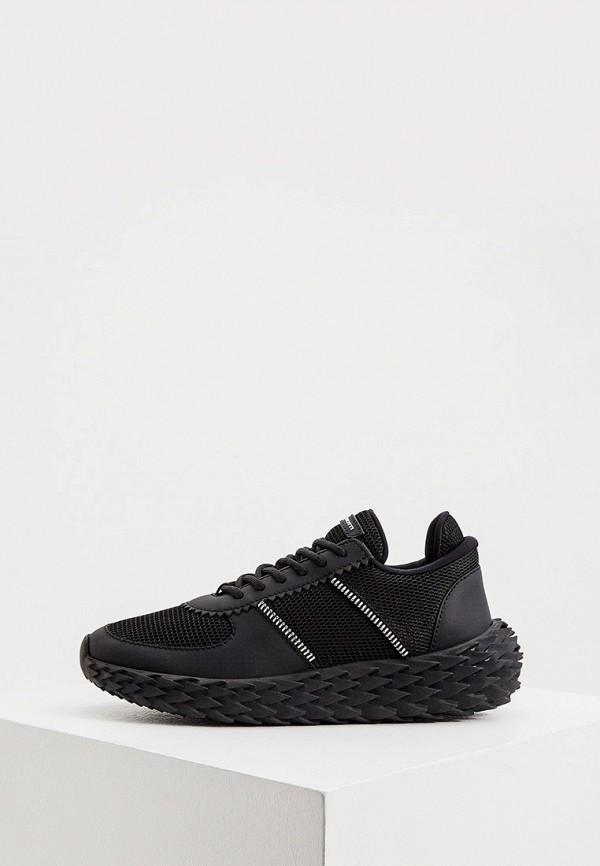 женские кроссовки giuseppe zanotti, черные