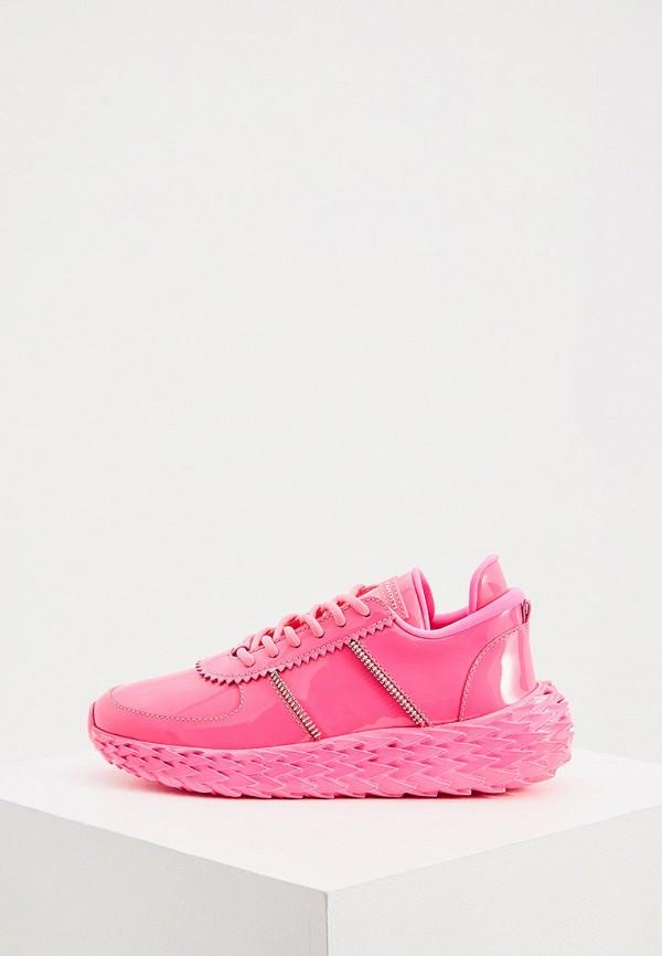 женские кроссовки giuseppe zanotti, розовые