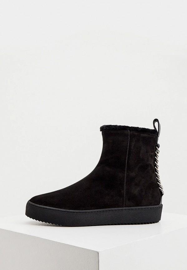 женские ботинки giuseppe zanotti, черные