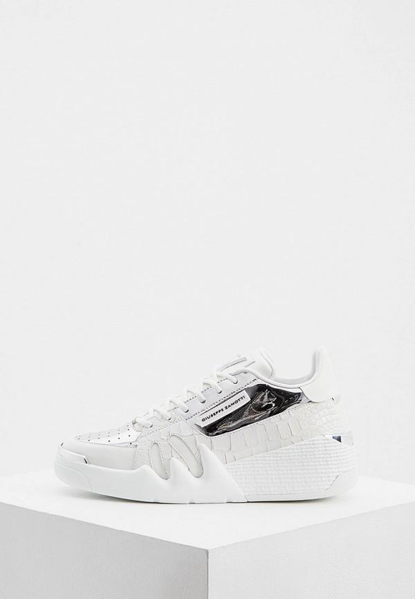 женские кроссовки giuseppe zanotti, белые