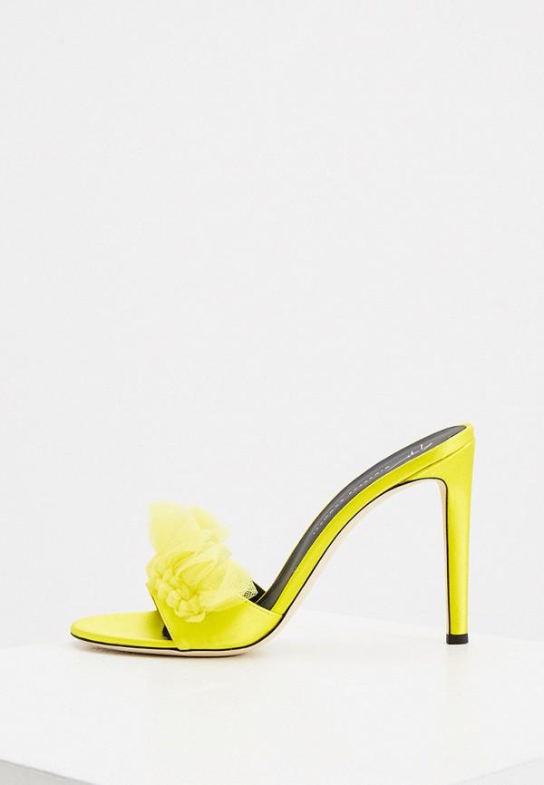 женское сабо giuseppe zanotti, желтое