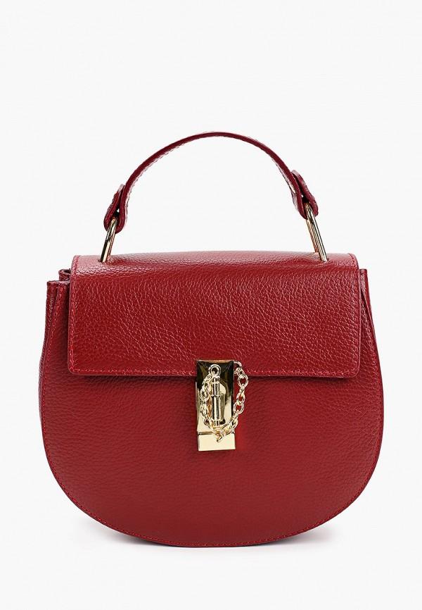 женская сумка giorgio costa, бордовая