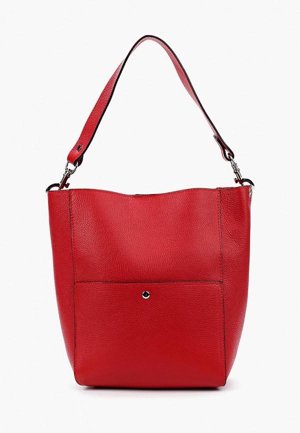 женская сумка giulia massari, красная