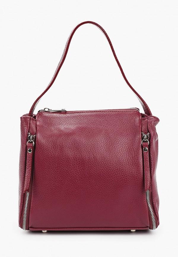 женская сумка giulia massari, бордовая