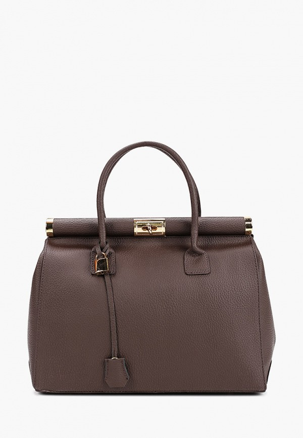 женская сумка giulia massari, коричневая