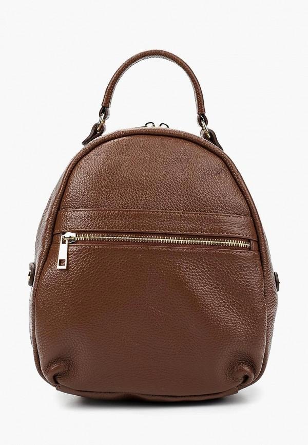 женский рюкзак giulia massari, коричневый