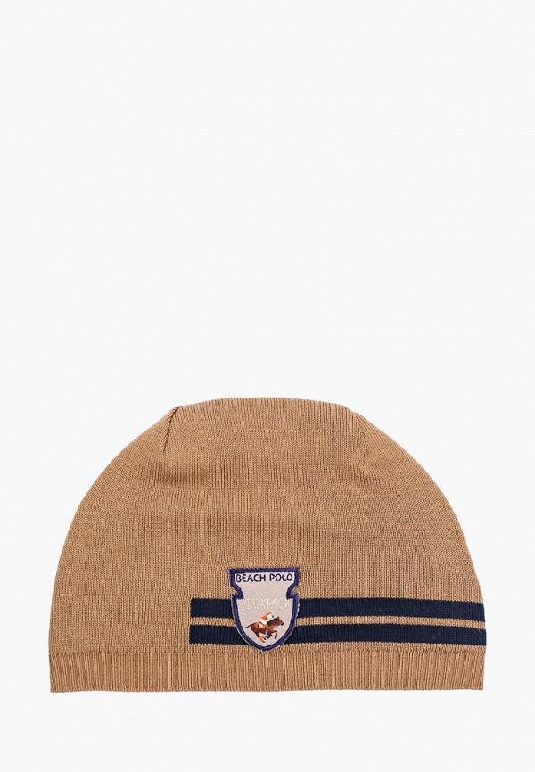 шапка giamo для мальчика, бежевая