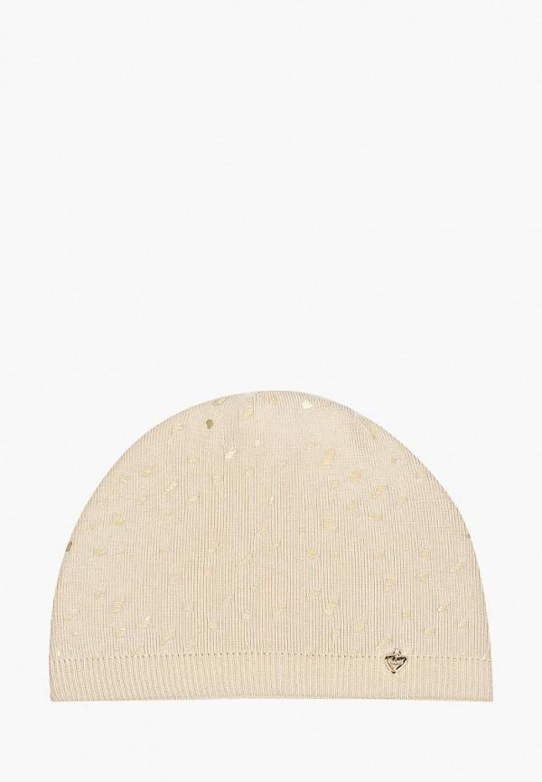 шапка giamo для девочки, бежевая