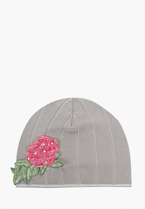 шапка giamo для девочки, серая