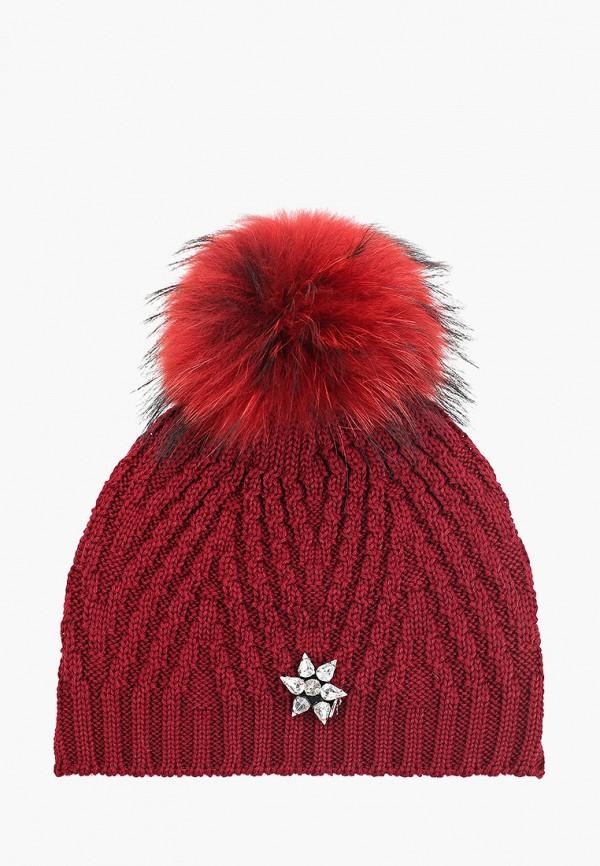 шапка giamo для девочки, красная