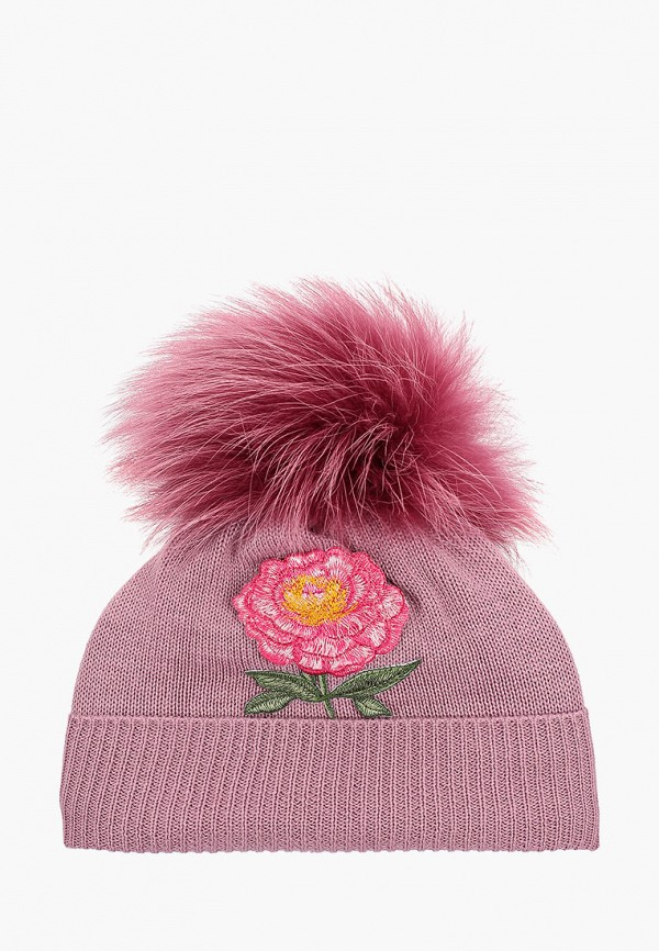 шапка giamo для девочки, розовая